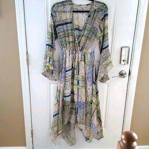 Haani Paisley Bell Sleeve Dress Size L